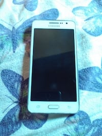 white Samsung Galaxy android smartphone null