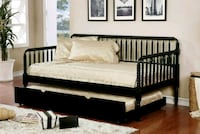 BLACK FINISH TWIN SIZE JENNY LIND STYLE DAYBED OPT Rancho Cucamonga