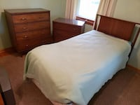 SALE- Twin Wood Bedroom Suite- w/ Mattress and Box Spring Lorain