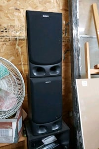 2 sony speakers for a surround sound system