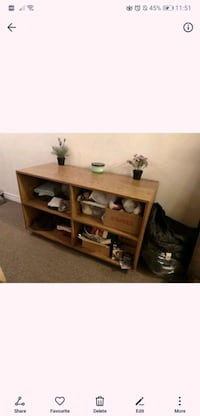 Wooden cubby/TV stand
