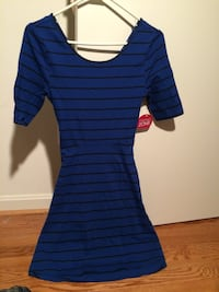 women's blue and black striped dress Reston, 20190