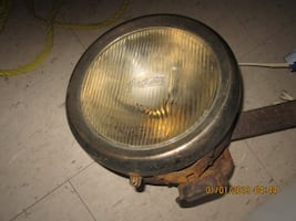 Antique Overland Car Headlight with original Overland Glass
