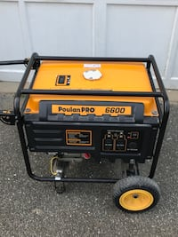 Poulan Pro 6600watt generator. Gasoline engine low hours like new   Oyster Bay, 11771
