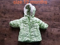 size 12 teal and white winter jacket Stephens City, 22655