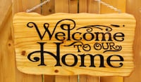 Hand made welcome , wood sign  Mississauga, L5N 3A8