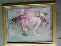 white and pink flower painting Bakersfield, 93308