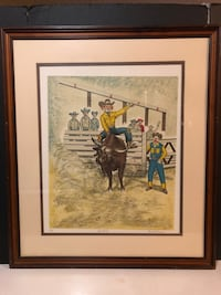"George Crionas - Artist Proof - Clowns - "" Hand Ride"" -1976 Signed Long Beach, 90804"