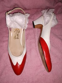 9.5 AAAA - Salvatore Ferragamo Red White Shoes Manchester, 03103