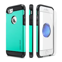 Case for iPhone 7plus Teal Black Boise