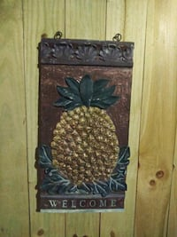 """Pineapple WELCOME sign 36x18""""   Gaithersburg, 20886"""