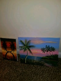 2 Hand Painted Paintings Dayton, 45410