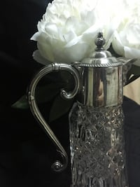 Crystal bacchus pitcher.