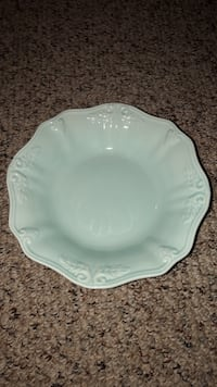light blue ceramic plate