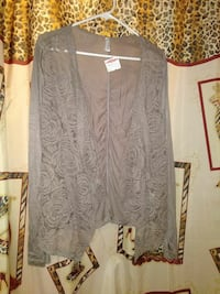 LADIES (M)  LACE FRONT CARDIGAN