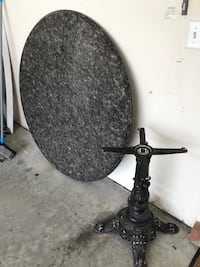 LARGE 4.5 foot solid granite round dining or game room table and base Greensboro, 27410