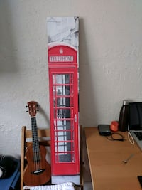 England telephone box poster and frame
