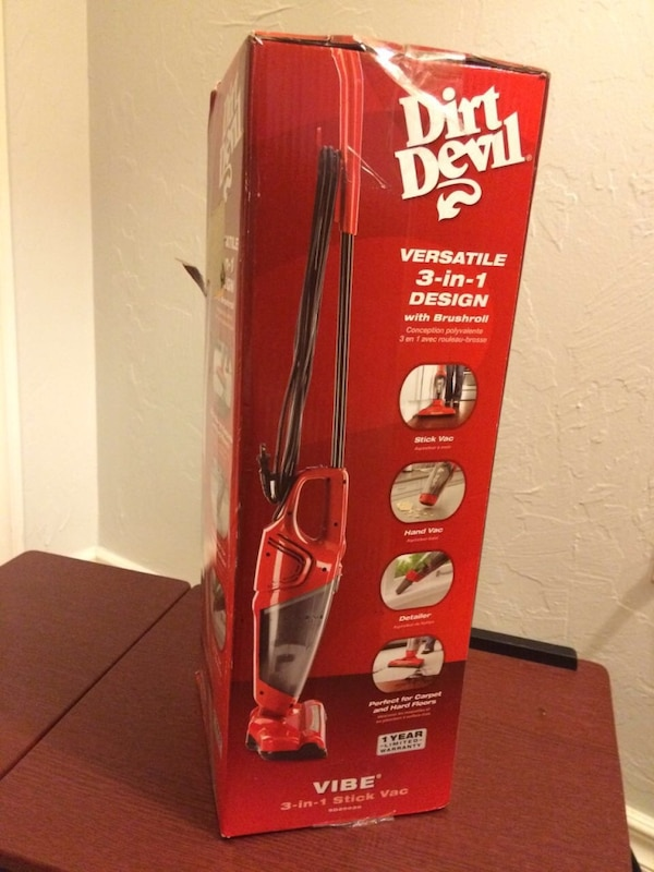 Used Red And Black Dirt Devil Versatile 3 In 1 Design Upright Vacuum
