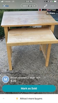 Brown wooden side table screenshot Washington