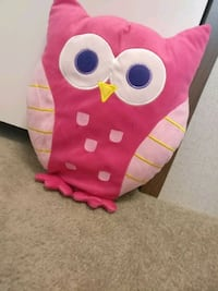 pink and white owl plush toy Jasper, 35501