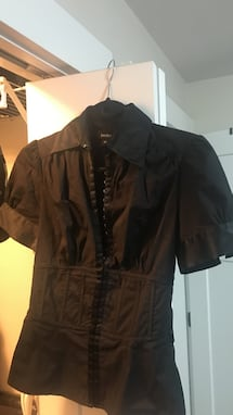 Bebe hooked black dress shirt