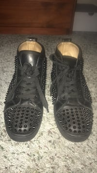 studded black high-top lace-up sneakers Naples, 34119