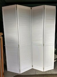 white wooden 3-panel room divider Wilmington, 28405