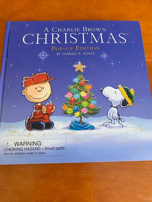 A Charlie Brown Christmas Book.Charlie Brown Christmas Pop Up Book