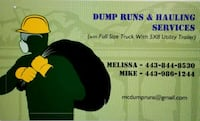 Dump runs and hauling services Glen Burnie