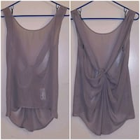 NEW with tags NWT FOREIGN EXCHANGE grey sheer top Santa Clarita, 91351