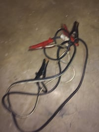 black and red booster cables