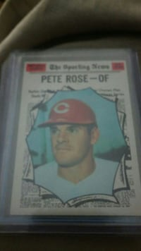 Peter Rose of Chicago Cubs trading card Belton, 64012