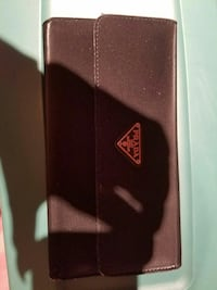 black Prada leather wallet