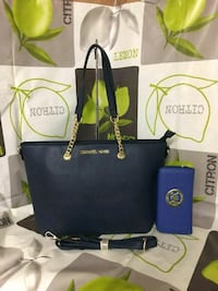 Tote bag in pelle Michael Kors blu Novara, 28100