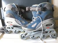 Pair of blue-and-gray technica inline skates. women's 8, barely used Mississauga, L5N