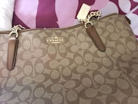 gray and brown Coach monogram tote bag Round Rock, 78665