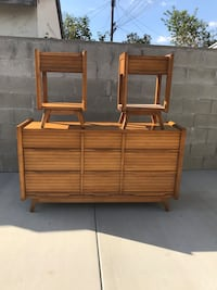 brown wooden bed frame and headboard West Covina, 91790