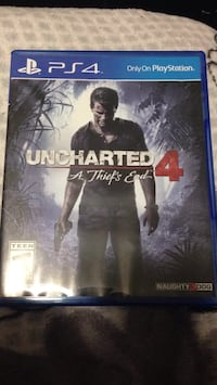 Uncharted 4 PS4 game case Tacoma, 98444