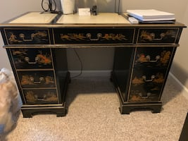 Beautiful Japanese Lacquered Desk