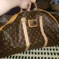 brown Louis Vuitton leather large luggage bag Parramatta, 2150
