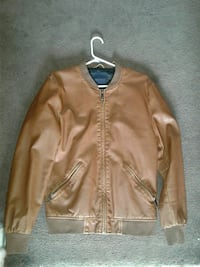 brown leather zip-up jacket San Diego, 92154
