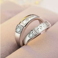 925 Sterling silver Love Forever Couple Ring