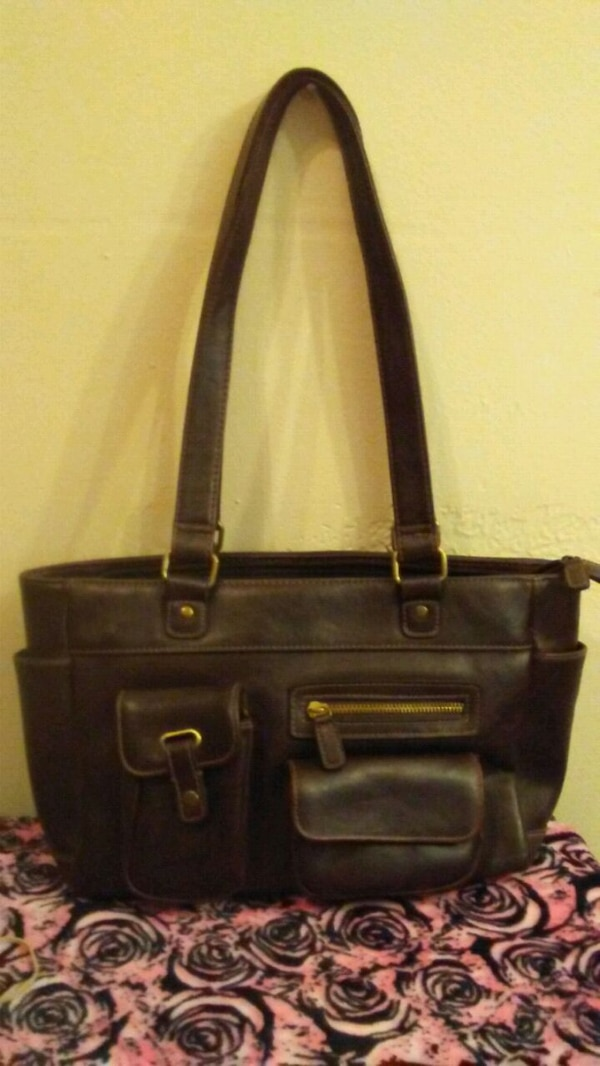 d7aa9130b Used brown leather 2-way handbag for sale in Riverdale - letgo