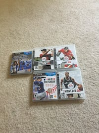 Play station 3 games all 5 for $20 Burnaby, V5H