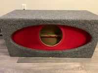 Red and black car subwoofer