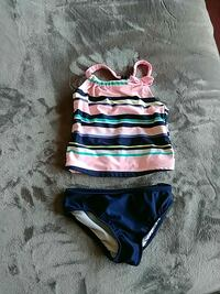 girl's pink and black striped sleeveless top and black panty Pickering, L1V 3H7