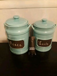 Chalkboard canisters Centreville