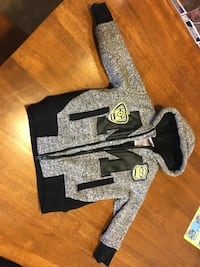 """2T Grey, Black & Yellow Minion Coat """"Yellow is the new Black"""" Des Moines"""