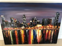 Downtown Montreal Night Painting Costa Mesa, 92627