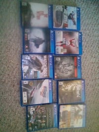 six assorted PS4 game cases Red Deer, T4N 6J6